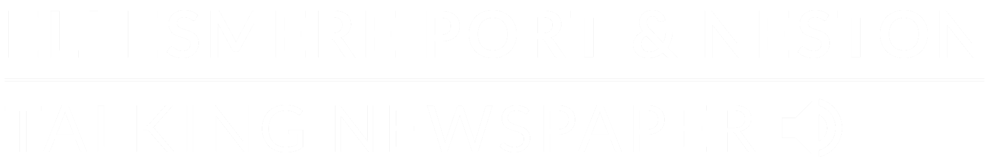 EP&N Talking Newspaper Logo White