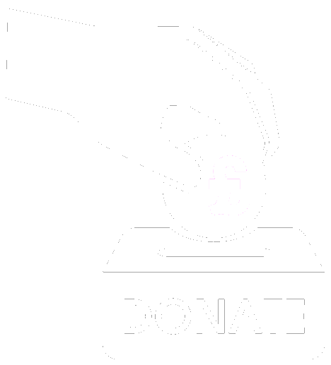 Hands Donating money into donation jar